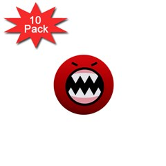 Funny Angry 1  Mini Buttons (10 pack)