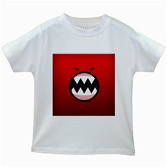 Funny Angry Kids White T-Shirts