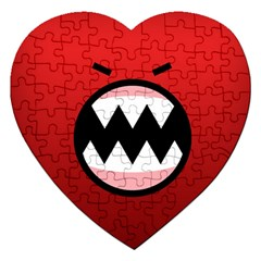 Funny Angry Jigsaw Puzzle (Heart)