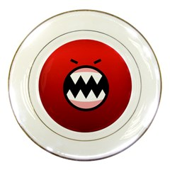 Funny Angry Porcelain Plates