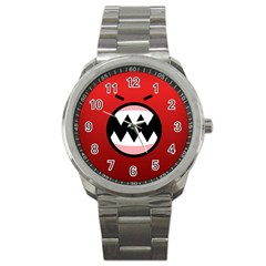 Funny Angry Sport Metal Watch