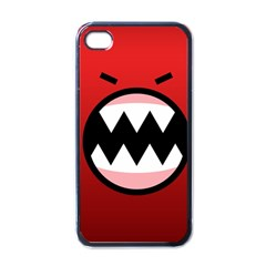 Funny Angry Apple Iphone 4 Case (black)