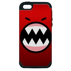 Funny Angry Apple iPhone 5 Hardshell Case (PC+Silicone)