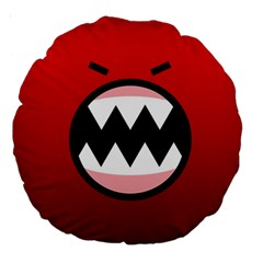 Funny Angry Large 18  Premium Round Cushions