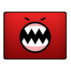 Funny Angry Double Sided Fleece Blanket (Small)