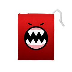 Funny Angry Drawstring Pouches (Medium)