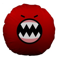 Funny Angry Large 18  Premium Flano Round Cushions