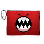Funny Angry Canvas Cosmetic Bag (XL) Front