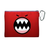 Funny Angry Canvas Cosmetic Bag (XL) Back