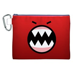 Funny Angry Canvas Cosmetic Bag (XXL)