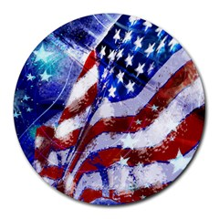 Flag Usa United States Of America Images Independence Day Round Mousepads