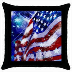 Flag Usa United States Of America Images Independence Day Throw Pillow Case (Black)