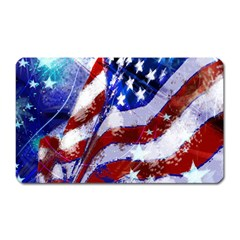 Flag Usa United States Of America Images Independence Day Magnet (Rectangular)