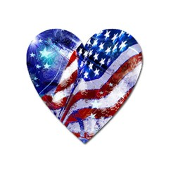 Flag Usa United States Of America Images Independence Day Heart Magnet