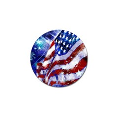 Flag Usa United States Of America Images Independence Day Golf Ball Marker (10 pack)