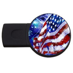 Flag Usa United States Of America Images Independence Day USB Flash Drive Round (1 GB)