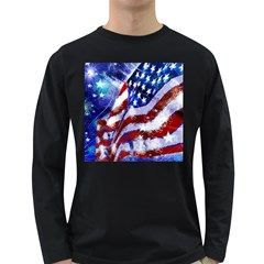 Flag Usa United States Of America Images Independence Day Long Sleeve Dark T Shirts
