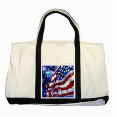 Flag Usa United States Of America Images Independence Day Two Tone Tote Bag