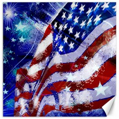 Flag Usa United States Of America Images Independence Day Canvas 12  x 12