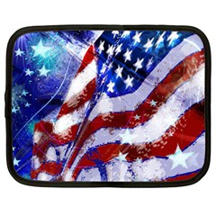 Flag Usa United States Of America Images Independence Day Netbook Case (large)