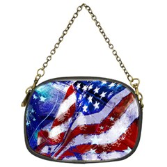 Flag Usa United States Of America Images Independence Day Chain Purses (One Side)