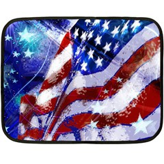 Flag Usa United States Of America Images Independence Day Double Sided Fleece Blanket (Mini)