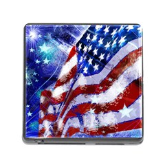 Flag Usa United States Of America Images Independence Day Memory Card Reader (square)