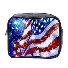 Flag Usa United States Of America Images Independence Day Mini Toiletries Bag 2-Side