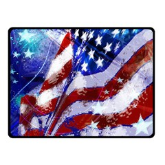Flag Usa United States Of America Images Independence Day Fleece Blanket (Small)
