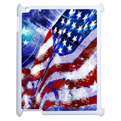 Flag Usa United States Of America Images Independence Day Apple iPad 2 Case (White)