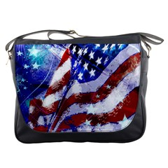 Flag Usa United States Of America Images Independence Day Messenger Bags