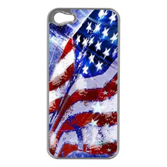 Flag Usa United States Of America Images Independence Day Apple iPhone 5 Case (Silver)