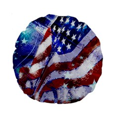 Flag Usa United States Of America Images Independence Day Standard 15  Premium Round Cushions