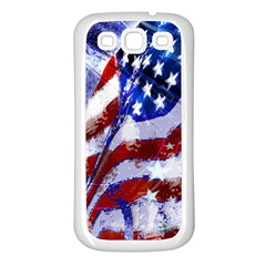 Flag Usa United States Of America Images Independence Day Samsung Galaxy S3 Back Case (white)