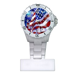 Flag Usa United States Of America Images Independence Day Plastic Nurses Watch