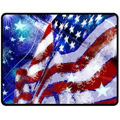 Flag Usa United States Of America Images Independence Day Double Sided Fleece Blanket (Medium)