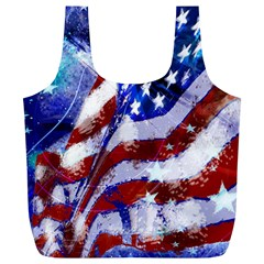 Flag Usa United States Of America Images Independence Day Full Print Recycle Bags (l)