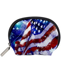 Flag Usa United States Of America Images Independence Day Accessory Pouches (small)