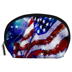 Flag Usa United States Of America Images Independence Day Accessory Pouches (Large)