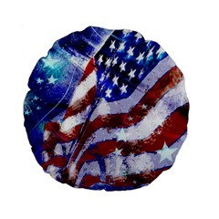 Flag Usa United States Of America Images Independence Day Standard 15  Premium Flano Round Cushions