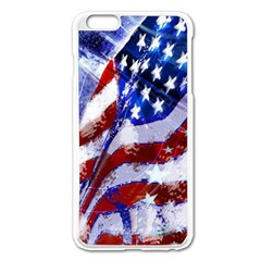 Flag Usa United States Of America Images Independence Day Apple Iphone 6 Plus/6s Plus Enamel White Case