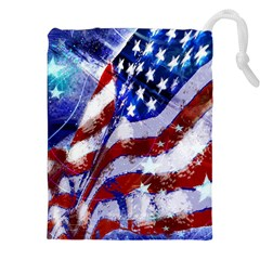 Flag Usa United States Of America Images Independence Day Drawstring Pouches (xxl)