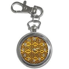 Golden Pattern Fabric Key Chain Watches