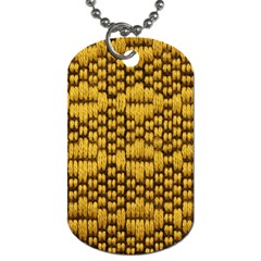 Golden Pattern Fabric Dog Tag (One Side)