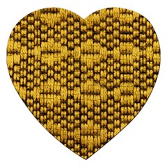 Golden Pattern Fabric Jigsaw Puzzle (Heart)