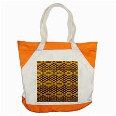 Golden Pattern Fabric Accent Tote Bag