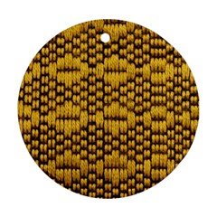 Golden Pattern Fabric Round Ornament (Two Sides)