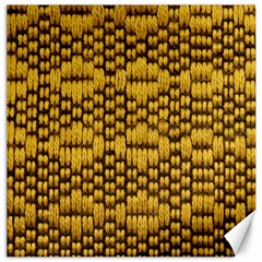 Golden Pattern Fabric Canvas 12  x 12
