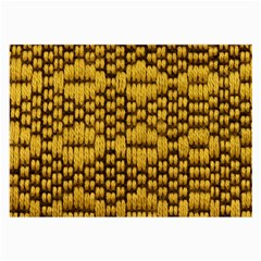 Golden Pattern Fabric Large Glasses Cloth (2 Side)