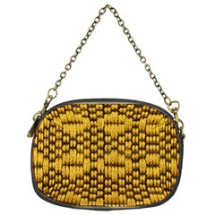 Golden Pattern Fabric Chain Purses (One Side)